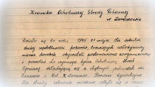 historia osp zaraszow